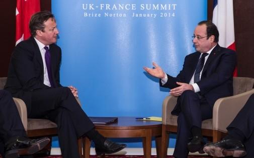 David Cameron et François Hollande lors du sommet franco-britannique, le 31 janvier 2014