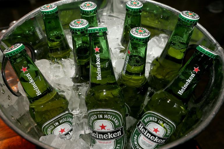 Des bouteilles d'Heineken, le 26 janvier 2014. (archives)
