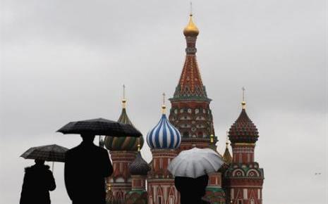 La place rouge à Moscou, au pied du Kremlin