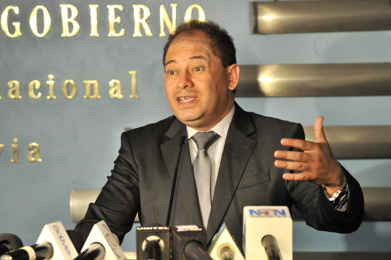 Carlos Romero, ministre de l'Intérieur bolivier, le 13 novembre 2013, à La Paz. (archives)