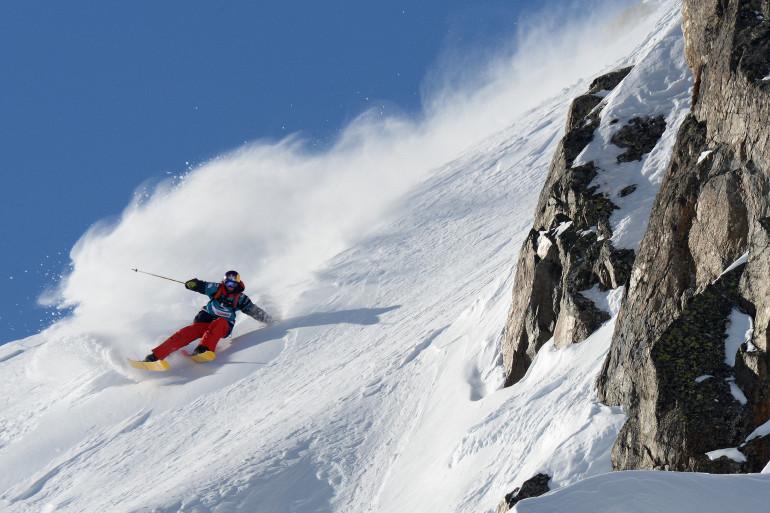 Le Freeride World Tour à Chamonix-Mont-Blanc, en janvier 2013