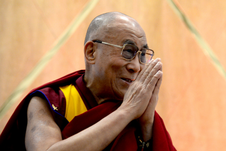 Le dalaï lama le 26 février 2014 lors d'une conférence à Los Angeles
