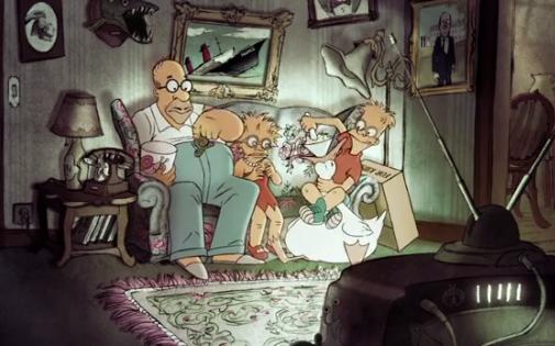 Capture d'écran du générique des Simpson réalisé par Sylvain Chomet