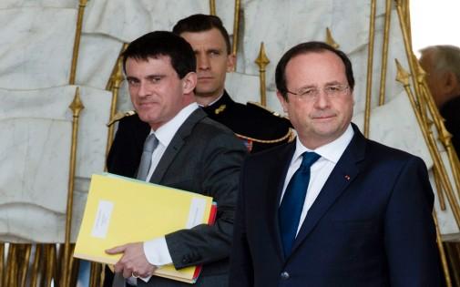 Manuel Valls et François Hollande à l'Elysée le 19 mars 2014.