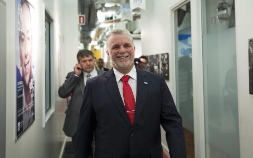 Philippe Couillard du Parti libéral québécois le 1er avril 2014