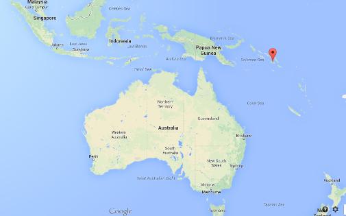 Localisation des îles Salomon
