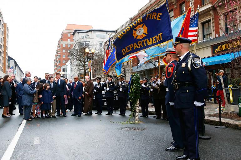 La ville de Boston rend hommage aux victimes des attentats de 2013