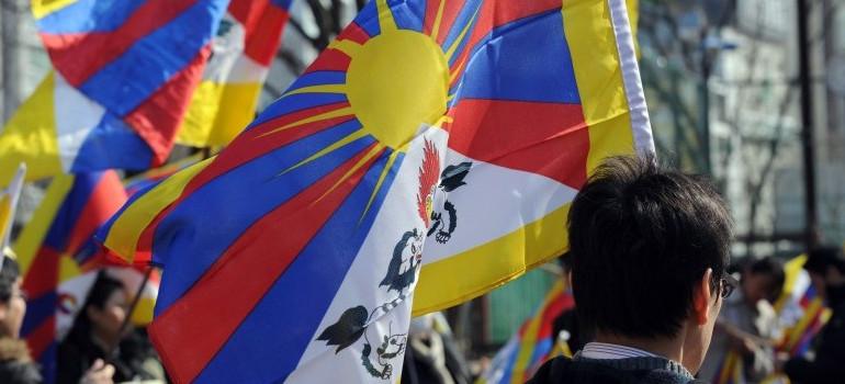 Manifestation pour la libération du Tibet, le 9 mars 2014, à Tokyo. (archives)