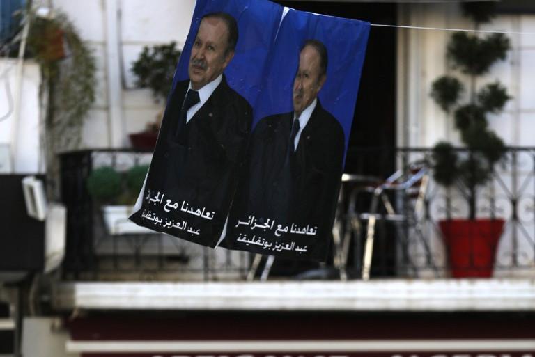 Des affiches électorales d'Abdelaziz Bouteflika à Alger, en Algérie, le 16 avril 2014.