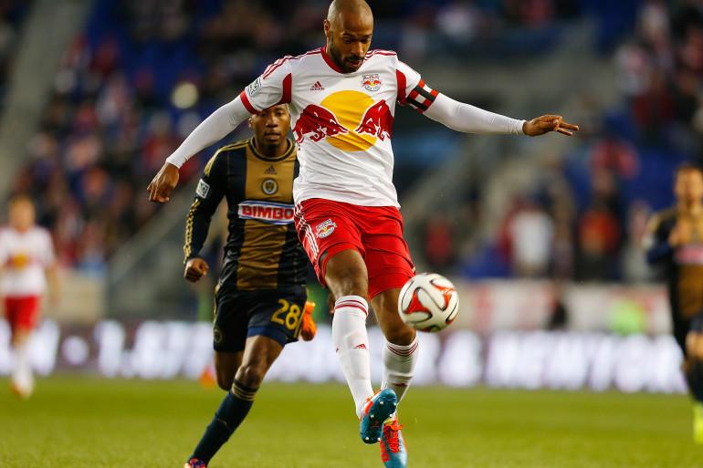 Thierry Henry sous les couleurs des New York Red Bulls en avril 2014