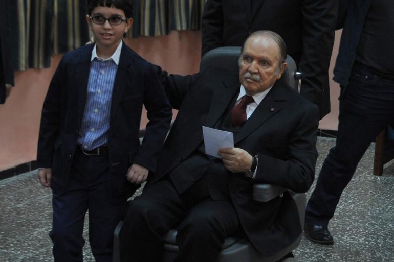 Le président Bouteflika, le17 avril 2014.