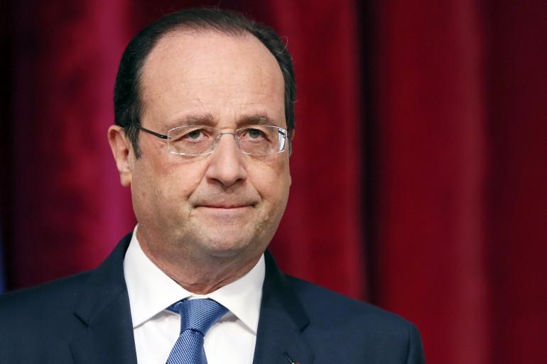 Le président de la République François Hollande à l'Elysée le 17 avril 2014.