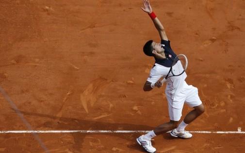 Le Serbe Novak Djokovic en avril 2014 sur la terre battue de Monte-Carlo