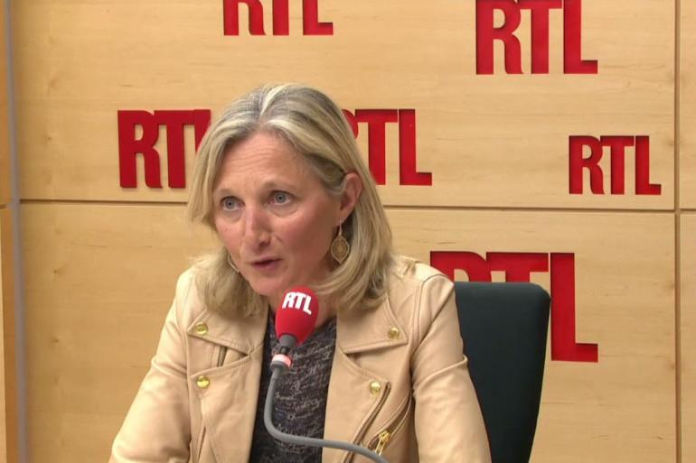 """Rachat d'Alstom : """"Notre offre est la meilleure"""", dit Clara Gaymard, présidente de General Electric France, le 30 avril 2014"""