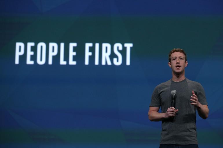 Mark Zuckerberg, le fondateur de Facebook, lors de la conférence F8 mercredi 30 avril 2014