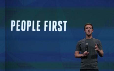 Mark Zuckerberg, le fondateur de Facebook lors de la conférence f8 le 30 avril 2014