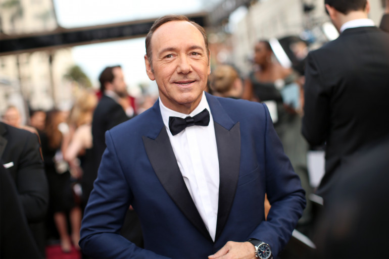 Kevin Spacey, lors de la cérémonie des Oscars, le 2 mars 2014