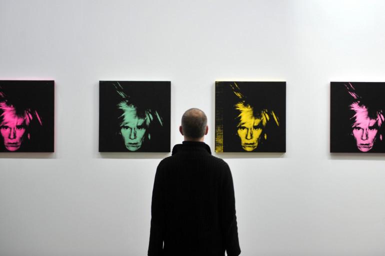 """""""Six Self Portraits"""" d'Andy Warhol le 2 décembre 2009."""