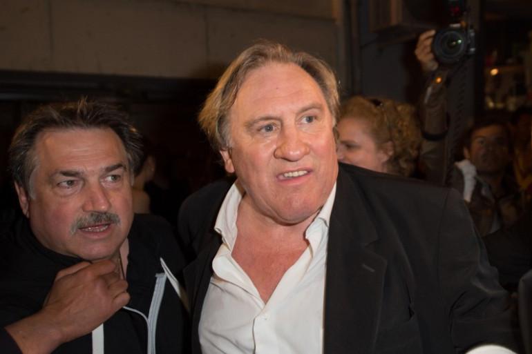 """Gérard Depardieu lors de la projection de """"Welcome to New York"""" à Cannes, le 17 mai 2014"""
