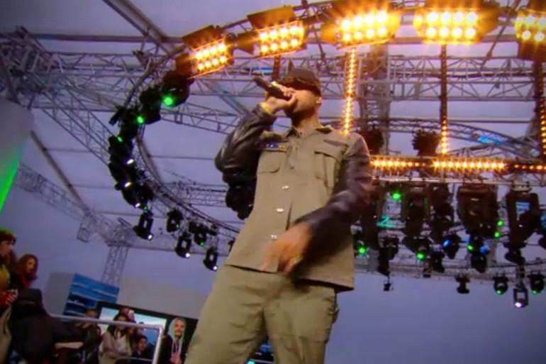 Booba a présenté le premier single de son septième album OKLM sur le plateau du Grand Journal de Canal + en marge du festival de Cannes