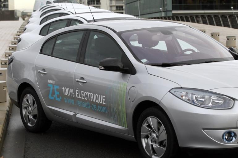 La Renault Fluence, voiture électrique, présentée le 20 décembre 2011 à Boulogne-Billancourt (archives)