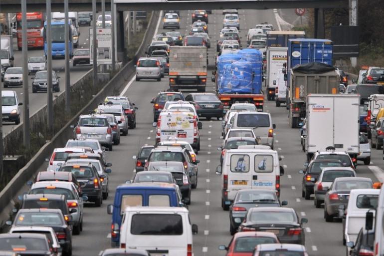 Embouteillage sur l'autoroute A1 près de Roissy (illustration)