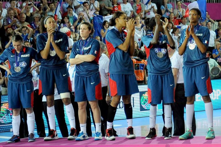 L'équipe de France féminine de basket, le 30 juin 2013 à Orchies dans le nord de la France.