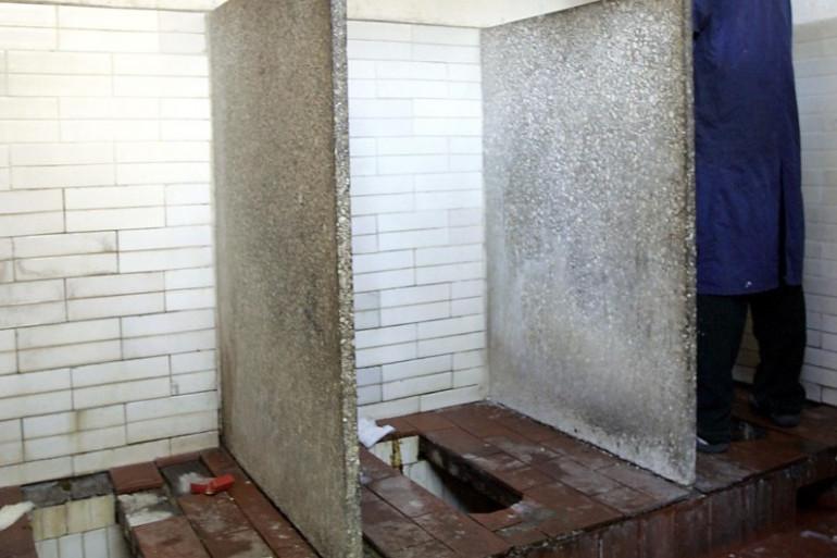 Des toilettes en Chine (illustration)