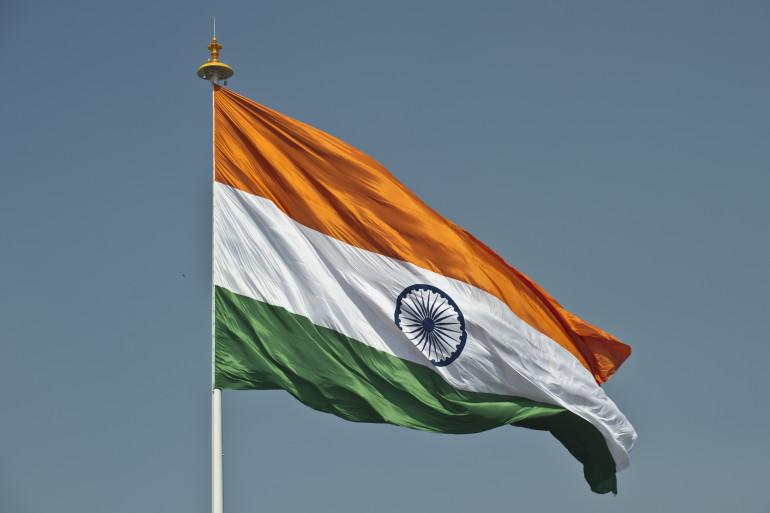 Le drapeau de l'Inde, le 7 mars 2014, à New Delhi. (archives)