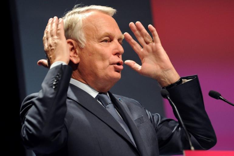 Jean-Marc Ayrault lors d'un meeting pour les européennes à Rezé (Loire-Atlantique) le 12 mai 2014. (archives)