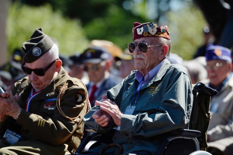 Des vétérans assistent aux cérémonies des 70 ans du Débarquement en Normandie, le 6 juin 2014