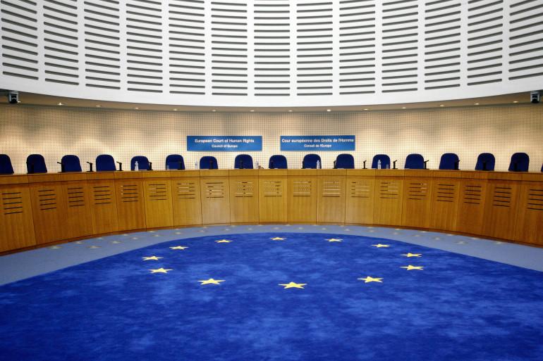 Salle d'audience de la Cour européenne des droits de l'homme (CEDH) en 2007 (archives)