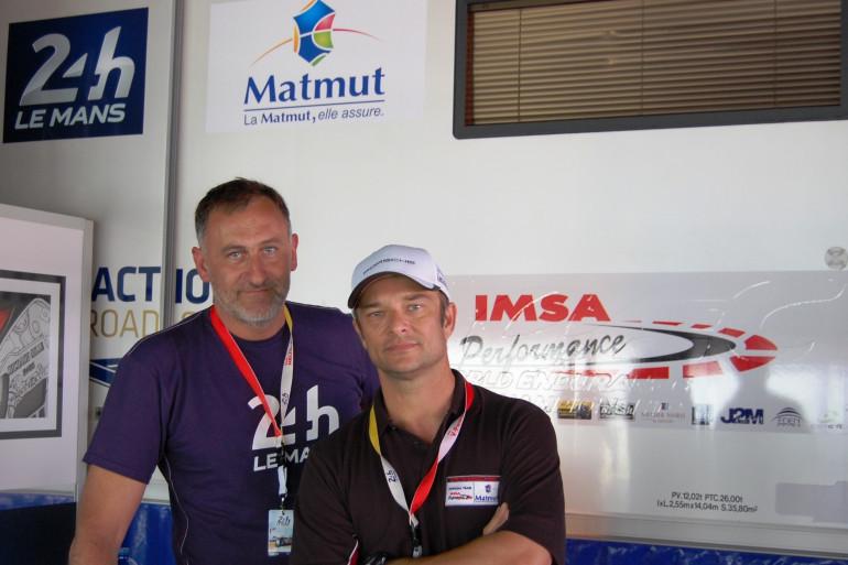 David Hallyday et Frédéric Veille, le correspondant RTL dans le Grand-Ouest