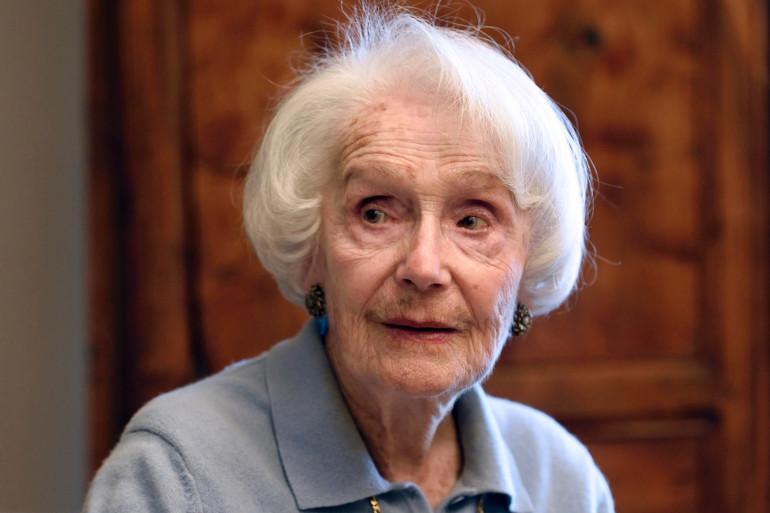 La comédienne et centenaire Gisèle Casadesus en 2014 à Paris