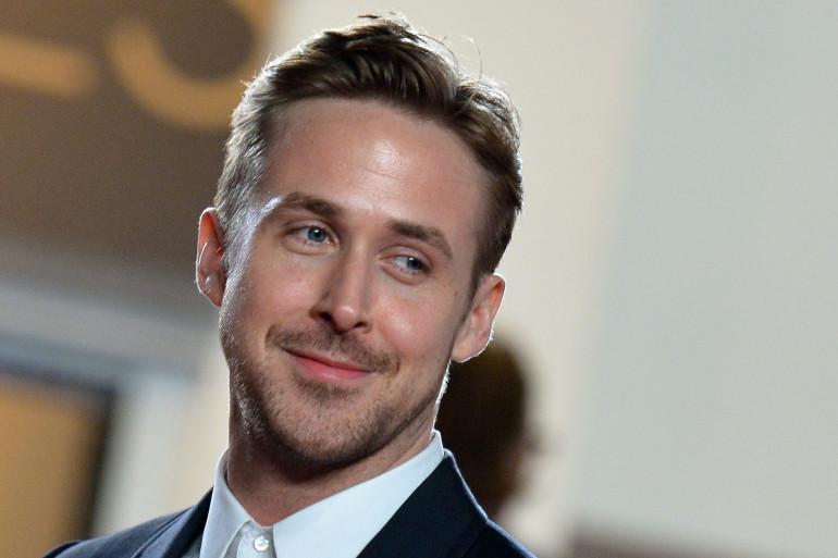 """Ryan Gosling, lors de la présentation de son film """"Lost River"""", au Festival de Cannes"""