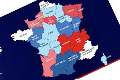 La carte des possibles 14 régions