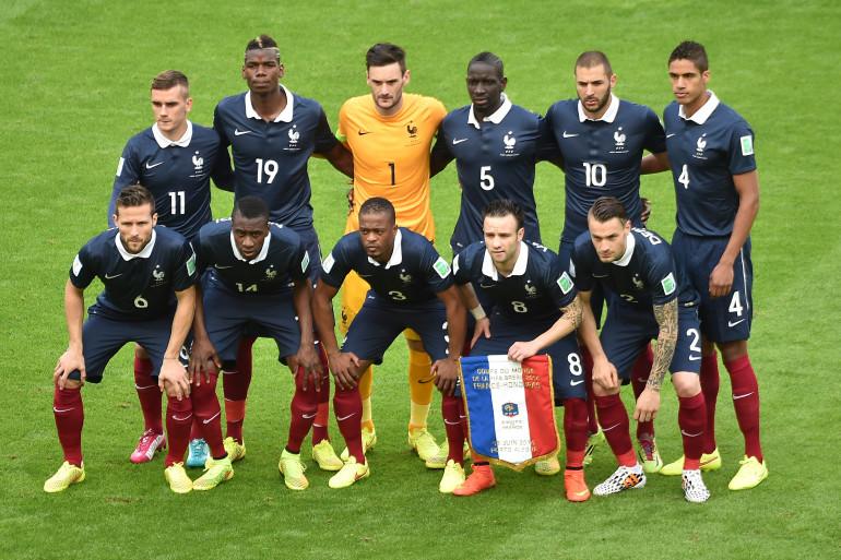 L'équipe de France de football le 15 juin 2014