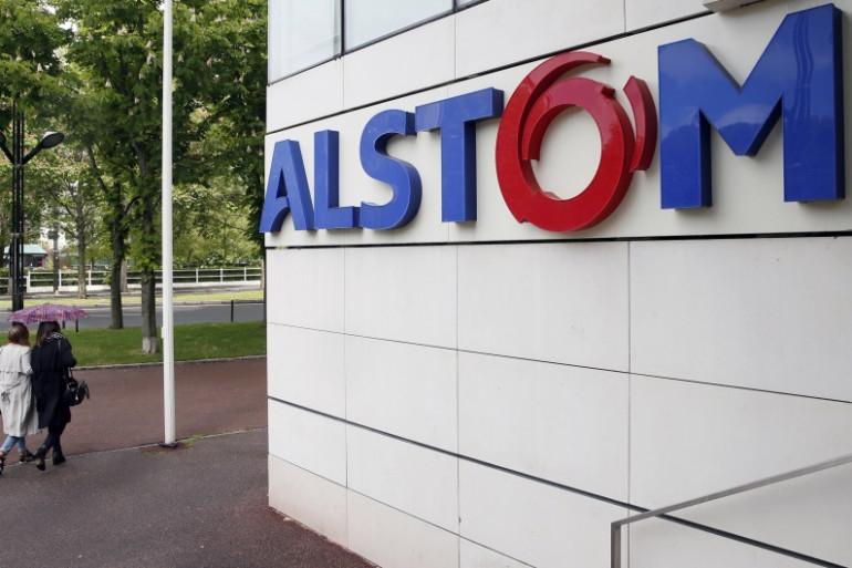 Le siège d'Alstom à Levallois-Perret près de Paris en avril 2014.