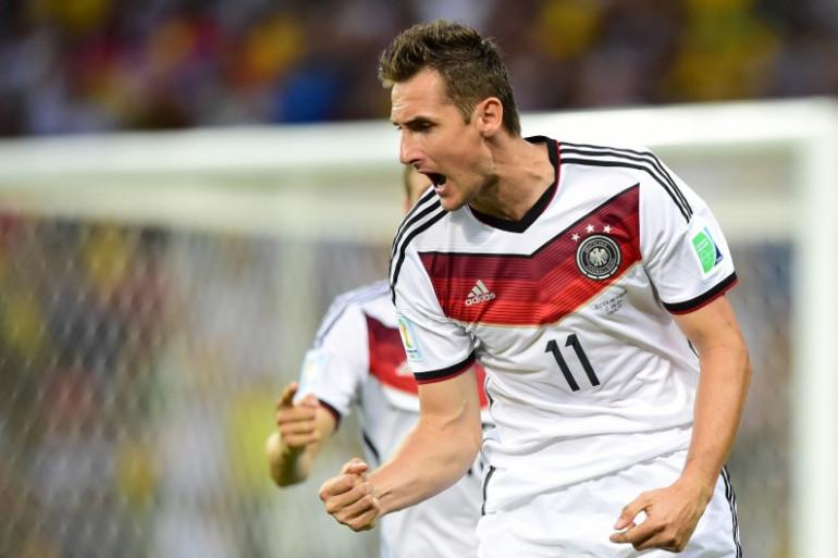 Miroslav Klose après son 15e but en Coupe du monde face au Ghana, le 21 juin 2014