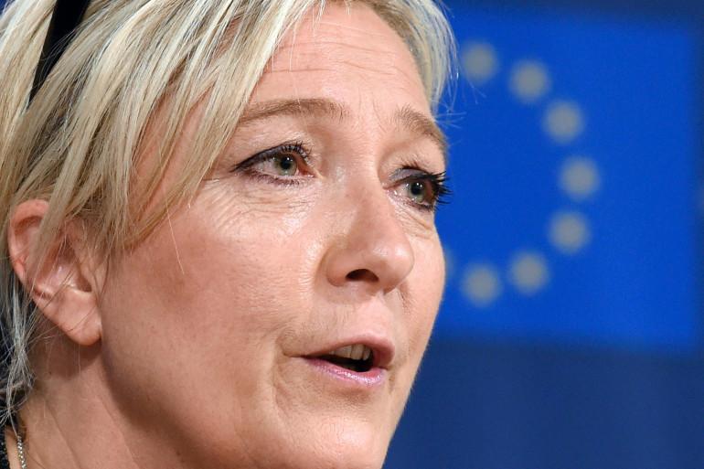 Marine Le Pen à Bruxelles le 28 mai 2014 (Archives)