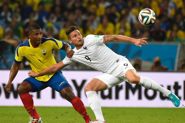 Olivier Giroud face à l'Équateur