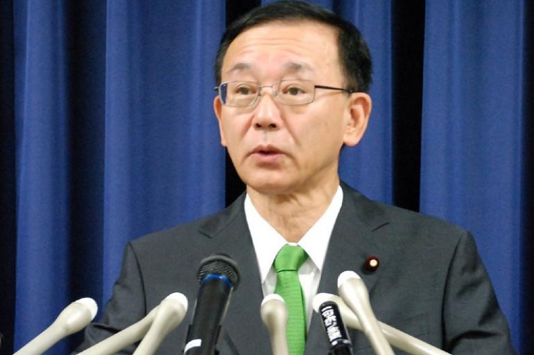Le ministre japonais de la Justice, Sadakazu Tanigaki, annonce l'exécution d'un condamné à mort, le 26 juin 2014.