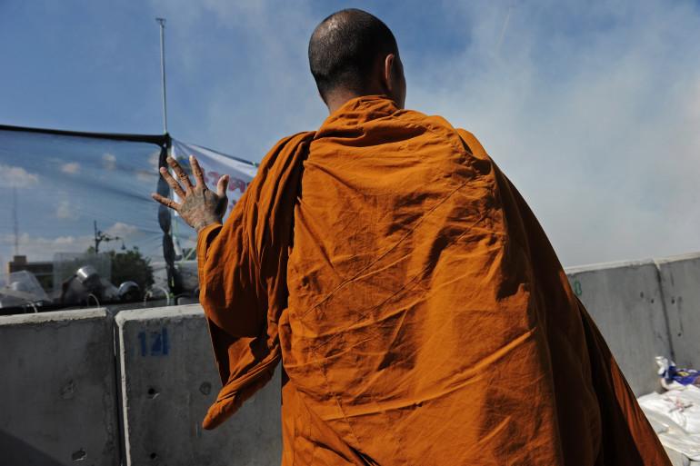 Un moine bouddhiste en Thaïlande, le 1er décembre 2013 (photo d'illustration)