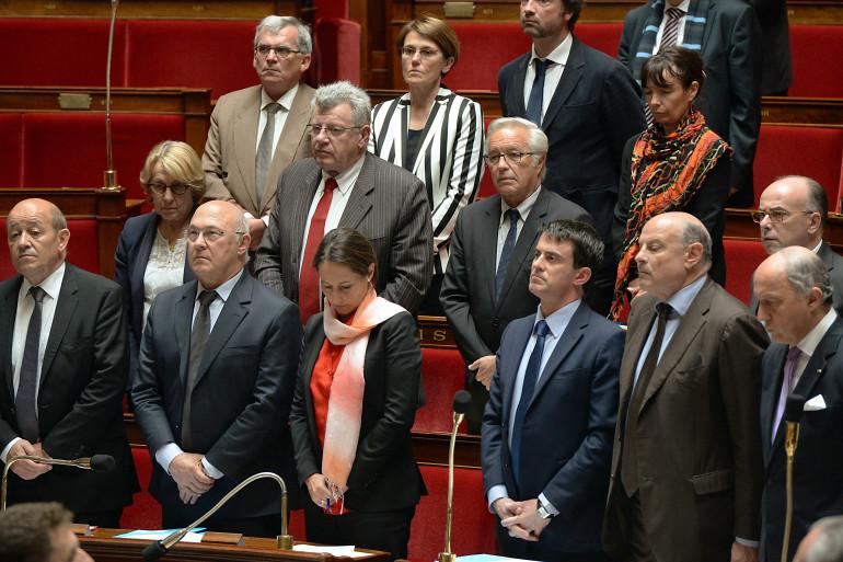 Des ministres à l'Assemblée nationale