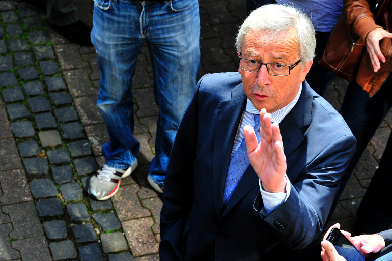 Jean-Claude Juncker le 25 mai 2014, jour des élections européennes (Archives)