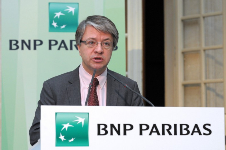 Le directeur général de BNP Paribas Jean-Laurent Bonnafé lors d'une conférence de presse en février 2014 à Paris (archive).