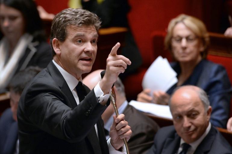 Le ministre de l'Economie Arnaud Montebourg lors des questions au gouvernement à l'Assemblée nationale en avril 2014 (image d'illustration).