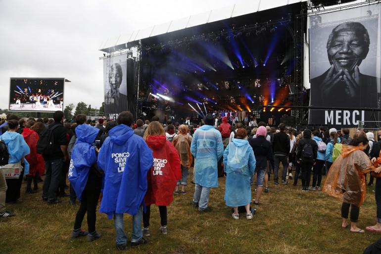 Les festivaliers de l'édition 2014 des Solidays ont bravé la pluie pour assister aux quelques 80 concerts