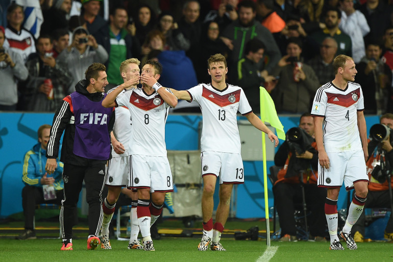 L'Allemagne fête sa qualification face à l'Algérie, le 30 juin 2014