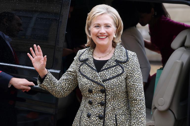 Hillary Clinton à l'Élysée le 8 juillet 2014
